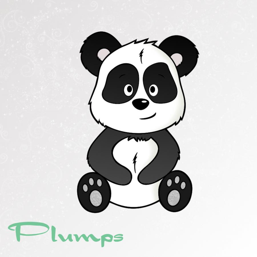 Plotterdatei Panda PLUMPS